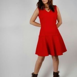 KARL LAGERFELD Red Sleeveless Dress